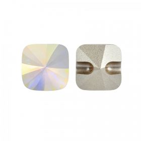 3009 Swarovski Crystal Button Square Rivoli 12mm Crystal AB F Pk2