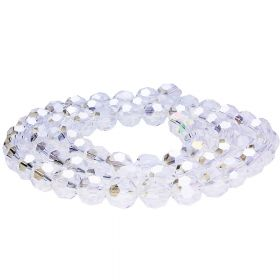CrystaLove™ / glass crystals / round / 2mm / crystal AB / 198pcs