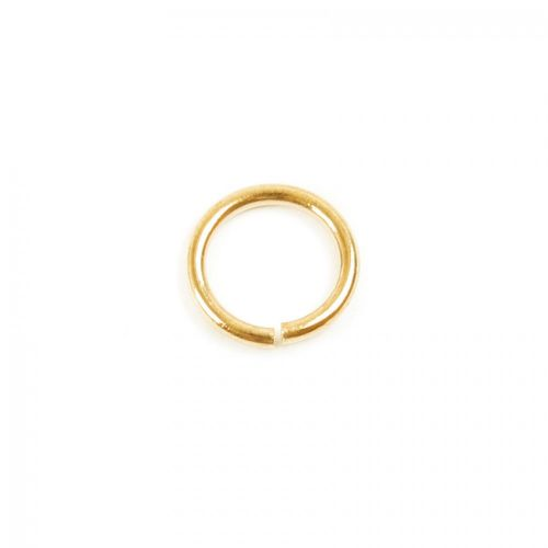 Gold Plated Jump Rings 8mm 1mm Thick Pk50
