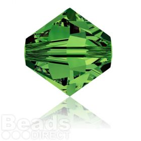 5328 Swarovski Crystal Bicones 8mm Dark Moss Green Pk288