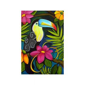 Diamond painting / mosaic / toucan / 20x25cm / 1pcs