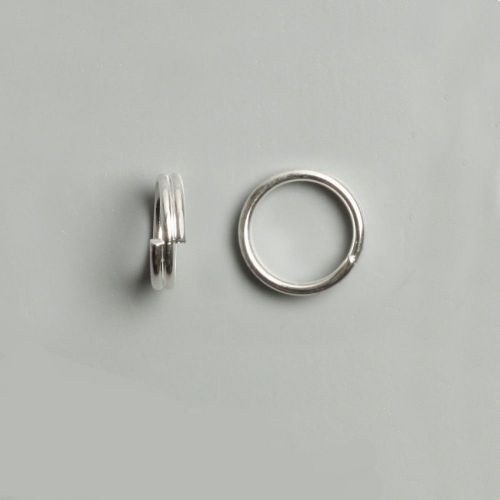 Silver Plated Split Rings 8mm Pk50