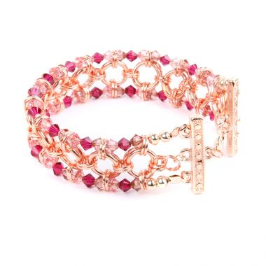 Crystal Sparkle Chain Maille Bracelet | Take a Make Break