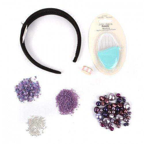 X-Berry Blush Beaded Headband Kit - Makes x1 Includes Needle and Thread