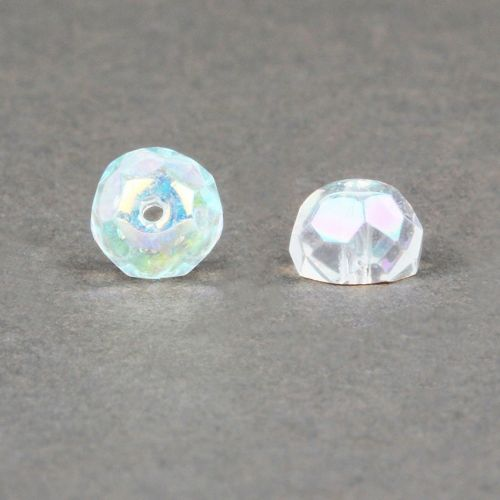 """X"" Preciosa Czech Glass Hill Beads Clear AB 7mm Pk30"