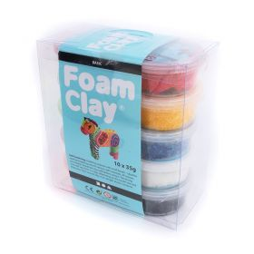 Foam Clay with Beads - Self Hardening - Assorted Colours 10x35g