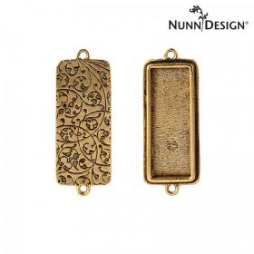 Nunn Design Antique Gold Connector Filigree Rectangle 15x38mm Pk1