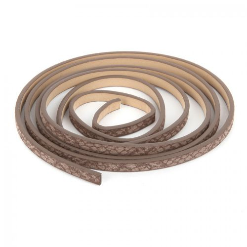 Brown Snake Effect PU Flat Cord 5mm 1.2metre