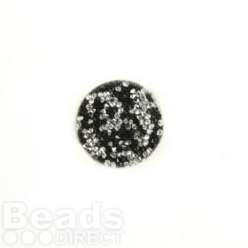 702429 Swarovski Crystal Fine Rocks 26mm Jet/Crystal Pk1