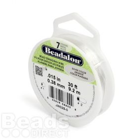 Beadalon 7 Strand Flexible Beading Wire 'Silver Colour' 0.015in 30ft
