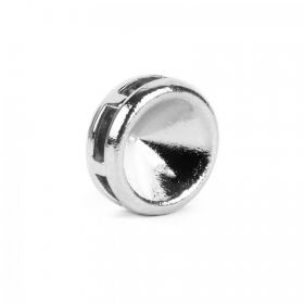 Silver Plated SS39 Chaton Multi Hole Round Setting 4x10mm Pk1