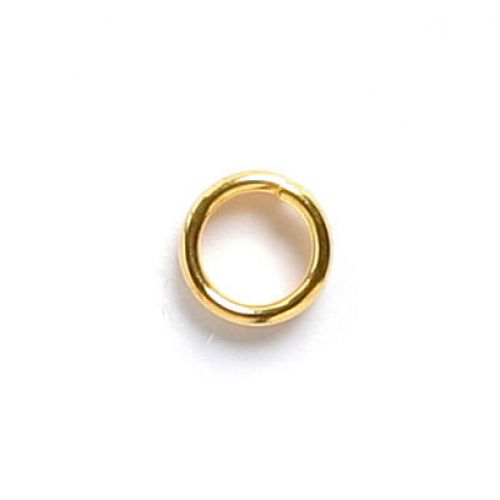 Gold Plated Split Rings 4mm Pk100