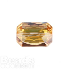 5515 Swarovski Crystal Emerald Cut 12.5x18mm Crystal Metallic Sunshine Pk1