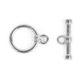 Silver Plated Medium Toggle Clasp 15x20mm Pk2