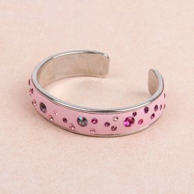 Pink CeraLun Silver Bangle Kit made with Swarovski - Makes x1