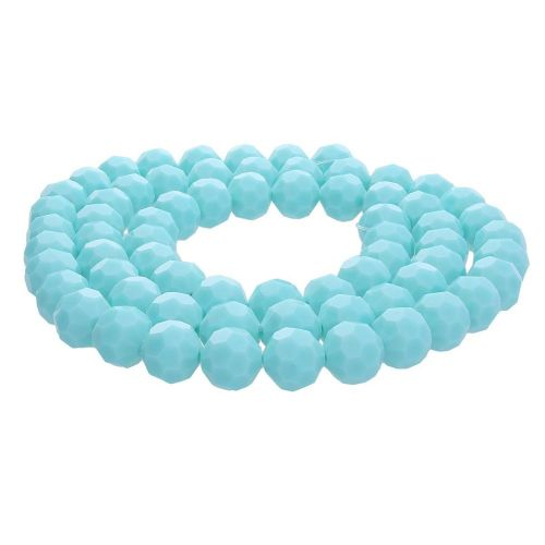 CrystaLove™ crystals / glass / faceted round / 10mm / mint / lustered / 65pcs