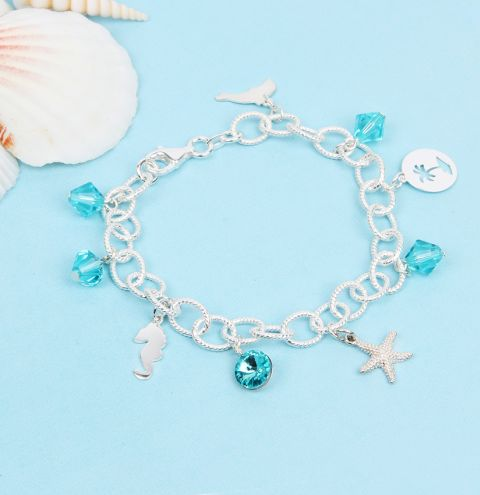 Tropical Beach Charm Bracelet