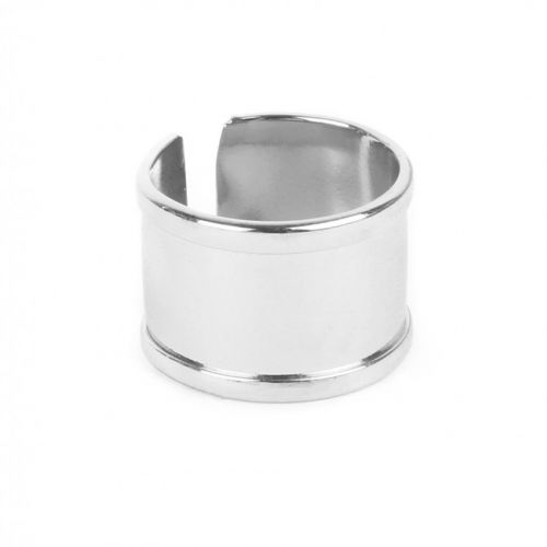 Rhodium Plated Ring Base 68x15mm Space for Cord Diameter-65mm Pk1