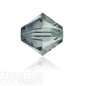 5328 Swarovski Crystal Bicones 6mm Black Diamond Pk360