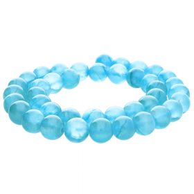Jade transparent / round / 10mm / azore / 40pcs
