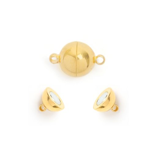 Gold Plated Magnetic Ball Clasp 8mm Pk1