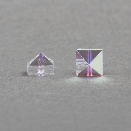 5061 Swarovski Square Spike One Hole Bead 5.5mm Crystal AB Pk6