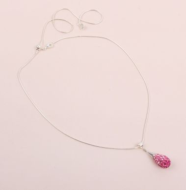 Crystal Pavé Drop Necklace