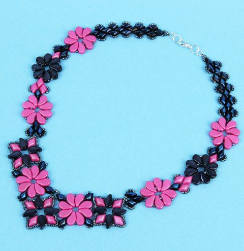 Pretty Pink Paisley Necklace