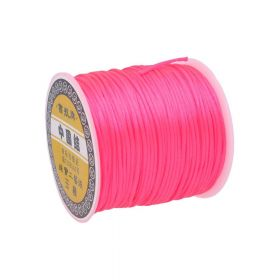 Satin cord / 1.5mm / neon pink / 70m