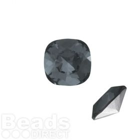 4470 Swarovski Crystal Square Fancy Stone 12mm Crystal Silver Night F Pk1