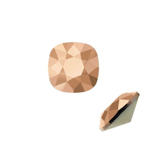 4470 Swarovski Crystal Square Fancy Stone 12mm Crystal Rose Gold F Pk1