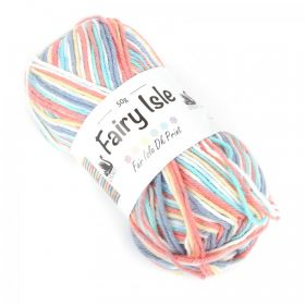 Foxglove Multi Colour Cygnet Fairy Isle Wool Cord 50g