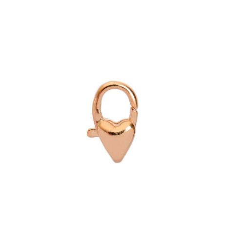 Rose Gold Plated Small Heart Lobster Clasp 11mm Pk1