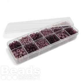 Preciosa Vivacious Violet Seed Bead Selection 12x11g Box Set