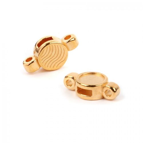 Gold Plated Zamak SS34 Slider/Connector 9x17mm Pk1