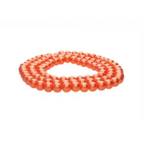 SeaStar™ / glass pearls / round / 8mm / orange / 110pcs
