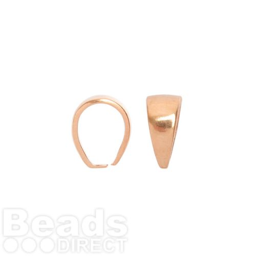 Rose Gold Plated Pinch Pendant Bail 10.8x7.9mm Pk1