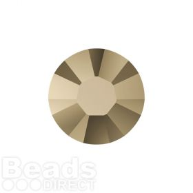 2078 Swarovski Crystal Hotfix Round 4mm SS16 Crystal Metallic Lt Gold A HF Pk1440