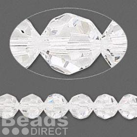 5000 Swarovski Crystal Faceted Rounds 8mm Clear Pk6