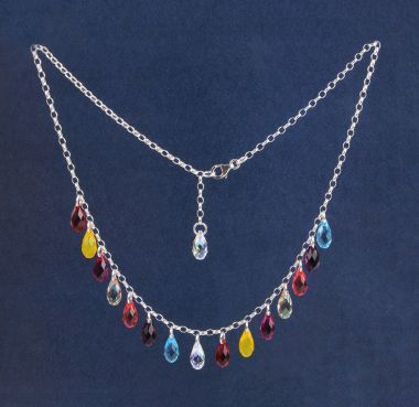 Crystal Briolette Necklace