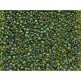 TOHO ™ / Round 11/0 / Inside Colour Rainbow / Jonquil / Forest Green Lined / 10g / ~ 1100pcs