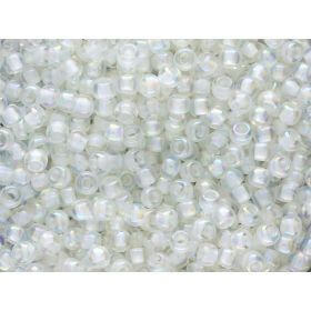 TOHO ™ / Round 8/0 / Inside-Colour Rainbow / Crystal / Creme Lined / 10g / ~ 300pcs