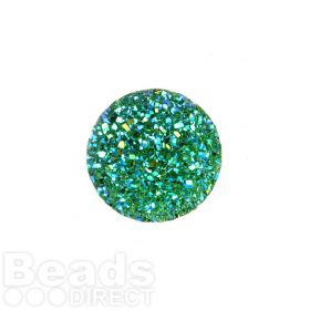 Jade AB Sparkly Resin Round Flat Back Cabochon 25x25mm Pk5