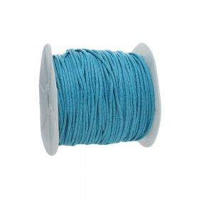 Waxed cord / blue / 2.0mm / 72m