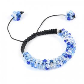 Blue Glittering Spiral Take a Make Break Bracelet Kit - Makes x1