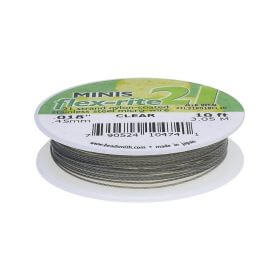 BEADSMITH® / Flex-Rite® 21 wire / surgical steel / .018inch / Crystal / 3m