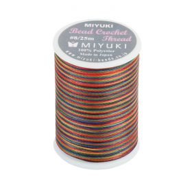 Miyuki Bead Crochet Polyester Thread 0.45mm Rainbow Mix 25metres