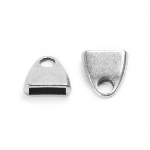 X-Antique Silver Zamak Cord Ends 13mm for 10mm Flat Leather Pk2