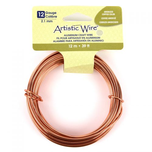 Beadalon Anodized Copper Craft Wire Aluminium 12gauge(2.1mm) 12 metre Coil