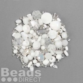 Preciosa Czech Glass Bead Mix Bridal Assorted Sizes 50g